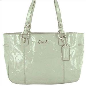 Coach Patent Green Shoulder  Bag.